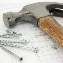 Maintenance hammer and nail